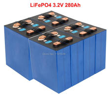 8PCS/LOT 3.2V 280Ah LiFePO4 Prismatic Cells For Home 24V 5KW Solar Energy Storage System