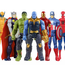 30 centimetri Marvel Avengers Endgame Thanos Spiderman Hulk Buster Iron Man Capitan America Thor Wolverine Action Figure Toy Per Il Ragazzo regalo(China)