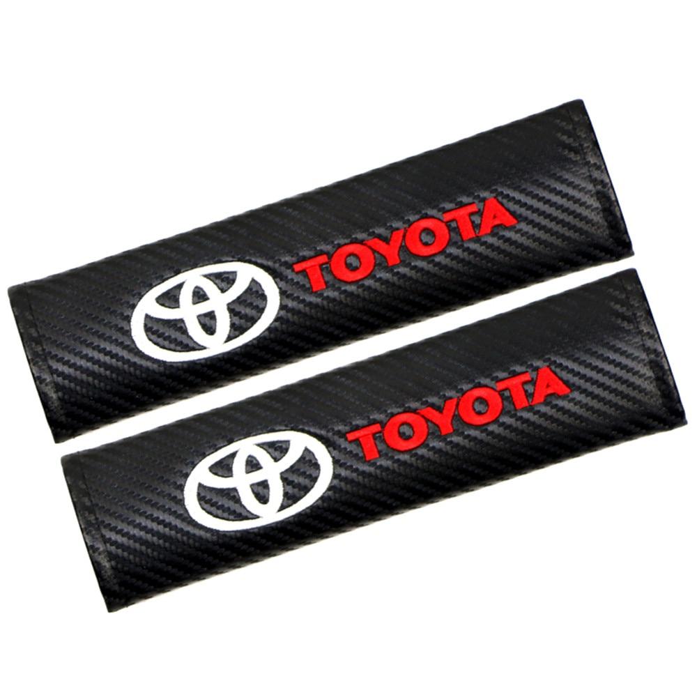 2 шт. Накладка для ремня безопасности автомобиля углеродного волокна плеч подкладка аксессуар для автомобилей Mercedes Benz Toyota BMW Audi Honda FORD Chevrolet ...