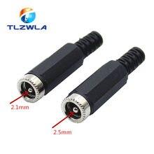 10 pces fêmea tomada tomada tomada conector adaptador 2.1/2.5mm x 5.5mm para ferramenta de reparos soquete 5.5*2.1mm 5.5*2.5mm