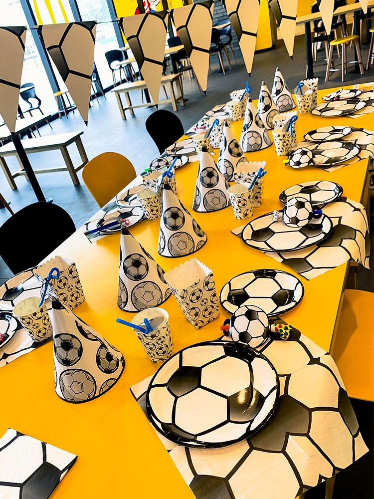 Детские вечерние принадлежности, футбольные тематические праздничные товары для дня рождения, детские подарки, Детские вечерние
