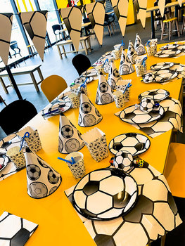 Baby Party Supplies Set Football Theme Birthday Party Supplies Set Baby Gift Child Kids Boys Girls Party Supplies Set
