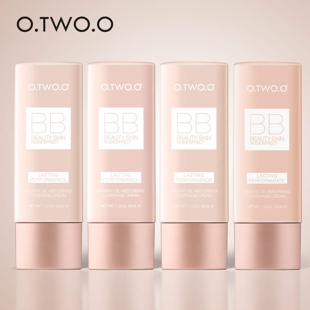 O.TWO.O BB Cream Perfect Full Cover Foundation Makeup Perfect BB&CC Cream Face Makeup Concealer Oil Control Moisturizing 30ml