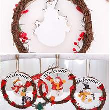 Get more info on the Christmas Decoration Doll Wreath Wooden Christmas Tree Garland Pendant Christmas Hanging DecorationCM
