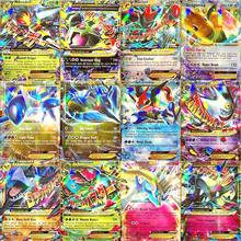 TAKARA TOMY – cartes Pokemon EX MEGA Booster, boîte anglaise, combat, Trading, brillant, jeu, liste de charge supérieure, jouets cadeaux pour enfants, 60 pièces/boîte