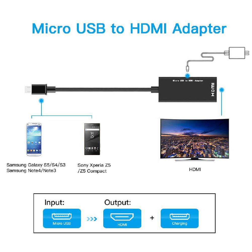 Type C & Micro USB To HDMI 1080P HD Audio Video Cable For HDTV Converter Adapters For TV PC Laptop (Phone Needs MHL Function)