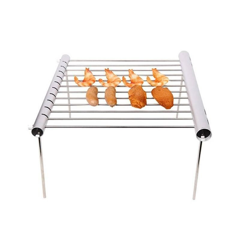 Mini Barbecue Outdoor Portable Foldable Shrink Stainless Steel Bbq Grill  For Home Garden Use Kitchen Dining Barbeque Accessories| | - AliExpress