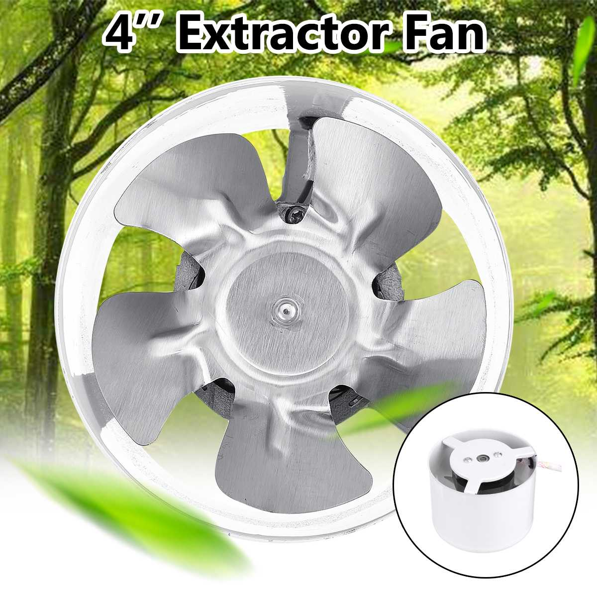 4 Inch Exhaust Blower Silent Wall Extractor 25W 220V Ventilation Fan Window Bathroom Kitchen Toilet Cooling Vents Ventilator Fa
