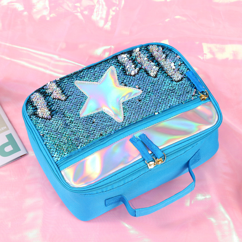 Sequin Isolados Kid Meninas Glitter Caixa De