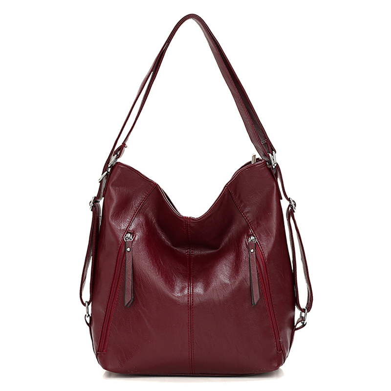 Women Leather Handbags High Quality 3IN1 Female Soft Leather Shoulder Bag Large Capacity Tote Bags Female Sac Ladies Hand BagTop-Handle Bags   -