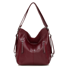 Women Leather Handbags High Quality 3IN1 Female Soft Leather