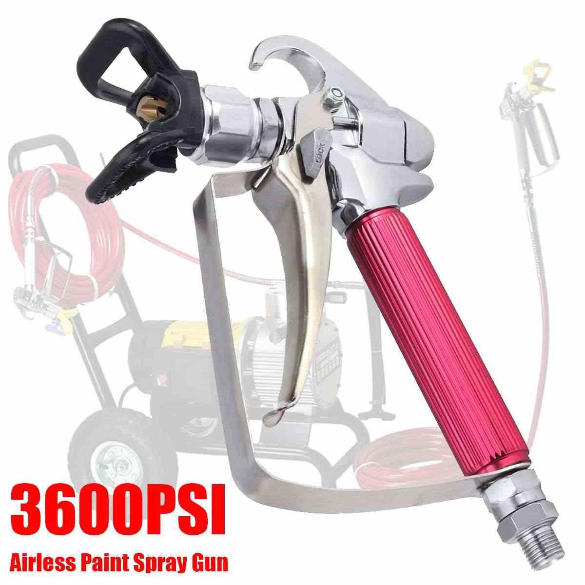 3600PSI 248Bar yüksek basınçlı havasız boya püskürtme G un Airbrush İpucu Guard ile pompa için püskürtme makinesi