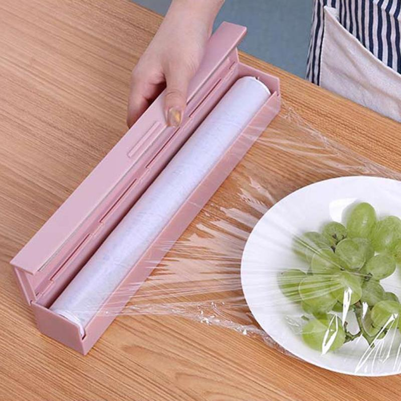 Plastic Preservative Film Cutter Food Wrap Cling Film Dispenser Aluminum Foil Wax Paper Economic Plastic Wrap Cling Film Cutter