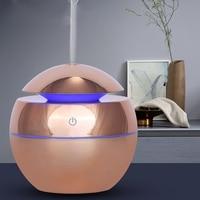Usb Aroma Ätherisches Öl Diffusor Ultraschall Luft Hause Luftbefeuchter Mini Nebel Maker Aroma Diffusor 130Ml 7 Farbe Led Licht büro-in Luftbefeuchter aus Haushaltsgeräte bei