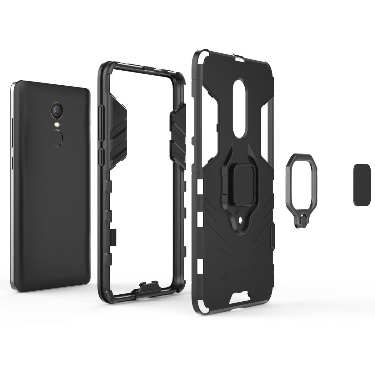 עבור Xiaomi Redmi הערה 4X מקרה סוגר מגנט מתכת אצבע טבעת מחזיק טלפון מקרה עבור Xiaomi Redmi הערה 4 פרו ראש היברידי כיסוי