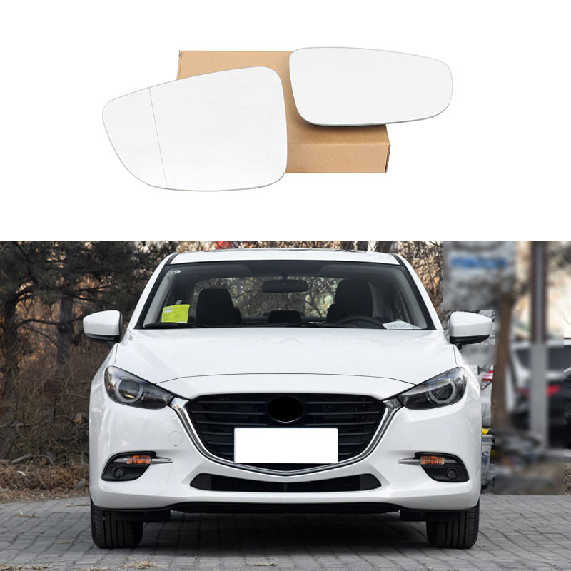 Right Door Side Wing Mirror Glass With Heated For Mazda 3 Axela BM 2014-2016