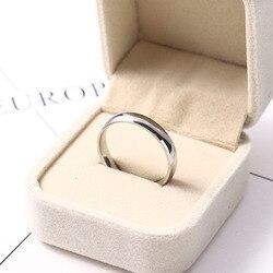 Acier inoxydable anneaux couleur argent lisse Simple déclaration personnalisé mariage Couples bague de mariage femme homme mode bijoux nouveau