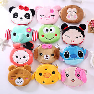 FUDEAM Coin Wallet Headset-Bag Usb-Cable Monkey Oval Panda Zipper Plush Rabbit Soft Girl