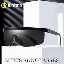 Viahda forma de uma peça óculos de sol polarizados óculos de sol femininos adequados de longa duração