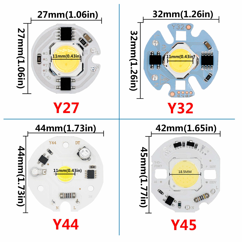 LED COB チップ SMD 発光ダイオード 3 ワット 5 ワット 7 ワット 9 ワット 15 ワット RGB LED AC220V 不要 Led ドライバスマート IC 電球ランプスポットランパーダ led