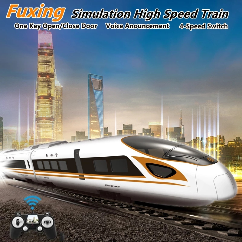 High Simulation Train Model  2.4G Remote Control Robot Train with simulation sound Voice Announce One Key Open Robot train Gifts