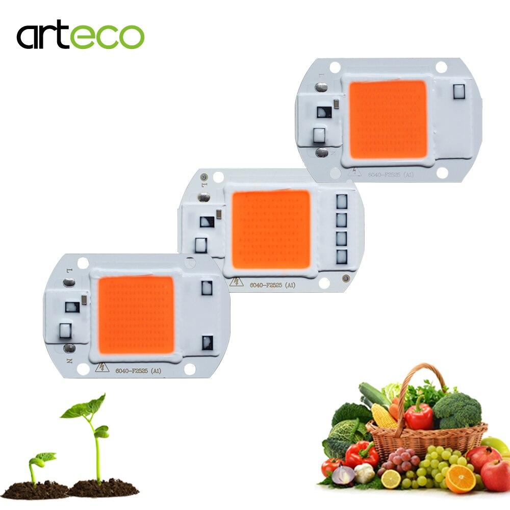 LED COB Chip For Grow Plants Light Full Spectrum AC 220V 110V 50W 30W 20W For Indoor Plant Seedling Grow Flower Growth Lighting