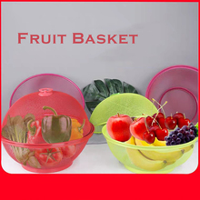 Apple Shaped Fruit Basket Stainless Steel Grid Kitchen Products Bowl