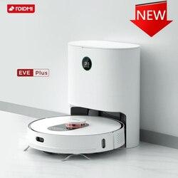 Globale Version ROIDMI EVE Plus Roboter Vakuum und Mopp Reiniger mit Smart Staub Sammlung Unterstützung Google Assistent und Alexa APP