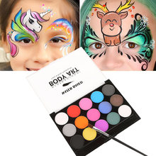 15 colors face paint halloween makeup non toxic water oil christmas