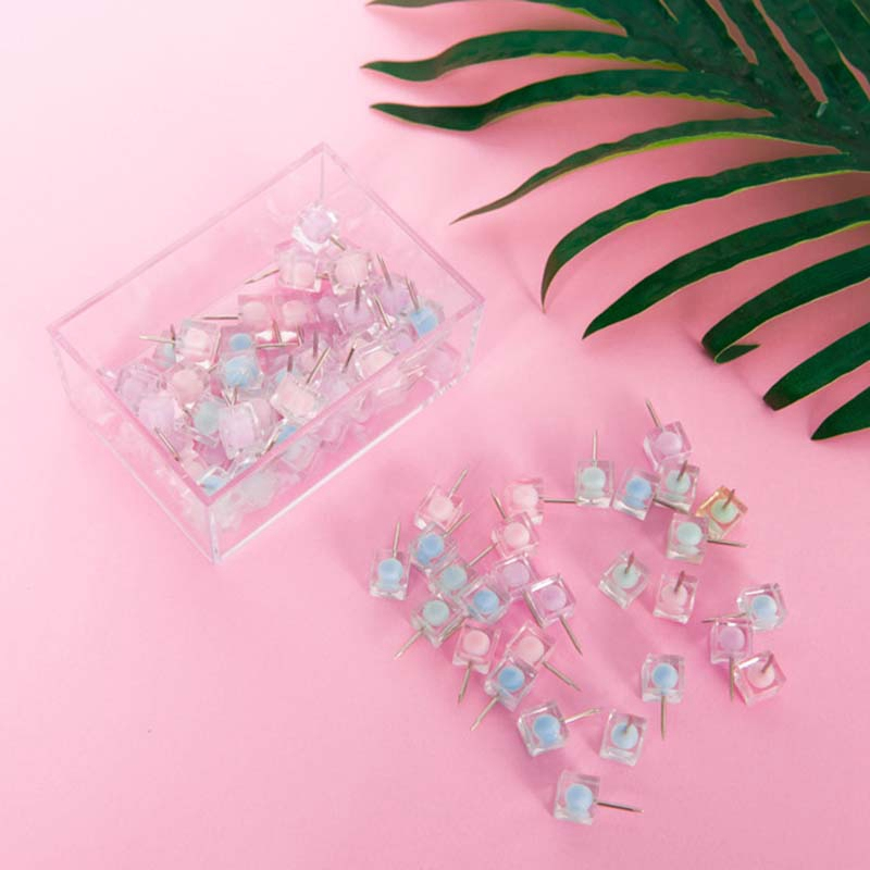 Color Thumbtack Nail Plastic Push Pin For Photo Wall Soft Board Wood Cork Board Map Pins Fashion Creative-Gift