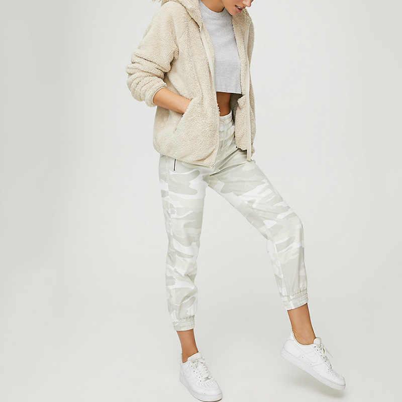 Faux Pelz Mantel Mit Kapuze Taschen Jacken Frauen Herbst Winter 2019 Casual Feste Langarm Teddy Mantel Fleece Zip Up Outwear top