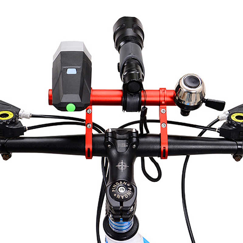 MTB Bike Handlebar Extender Bicycle Flashlight Mount Headlight Bracket Holder