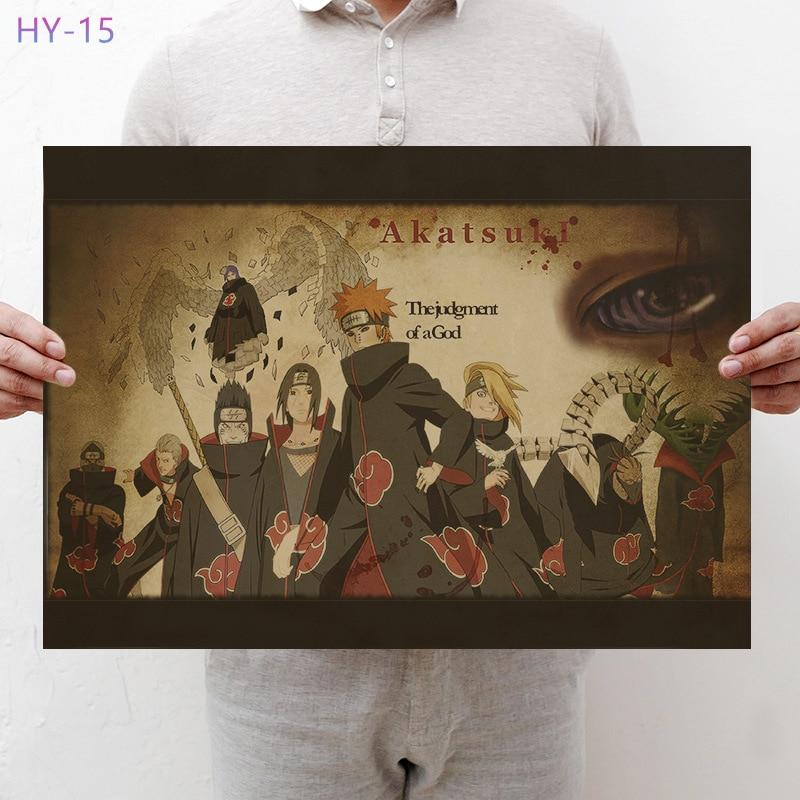 Постер Naruto Винтаж Классический Аниме Мультфильм крафт-бумага плакат живопись настенные наклейки домашние декоративные