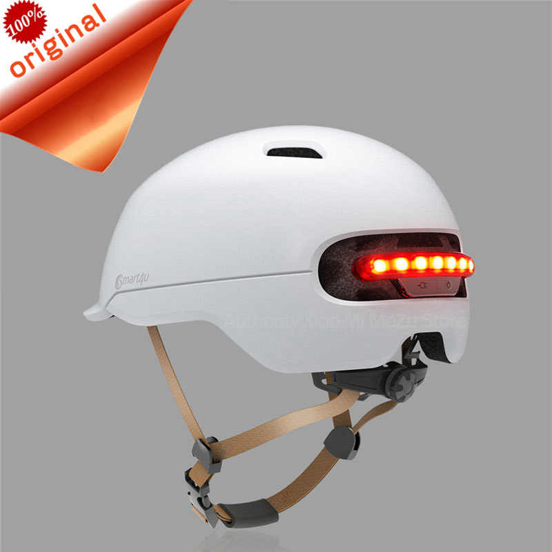 Xiaomi Bicycle Scooter Helmets Matte for men women kid Smart4u helmet Smart Flash Waterproof Back light cycling Helmet bike Road