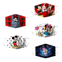 Disney mickey minnie rosto máscaras decoração festa dustproof reutilizável lavável filtros para o miúdo adulto disney anime presentes de natal