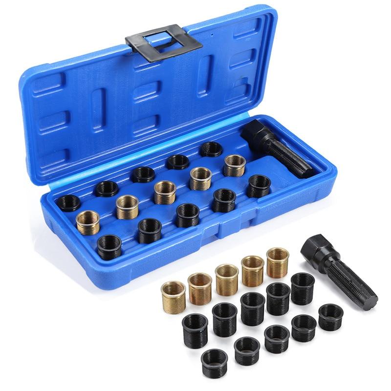 M14 x 1.25mm Spark Plug Re thread Repair Tap Tool Reamer Inserts Kit portable hand tool sets car repair tool set-in Hand Tool Sets from Tools