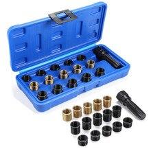 M14 x 1.25mm spark plug re thread repair tap ferramenta reamer inserções kit portátil mão conjuntos de ferramentas de reparo do carro conjunto