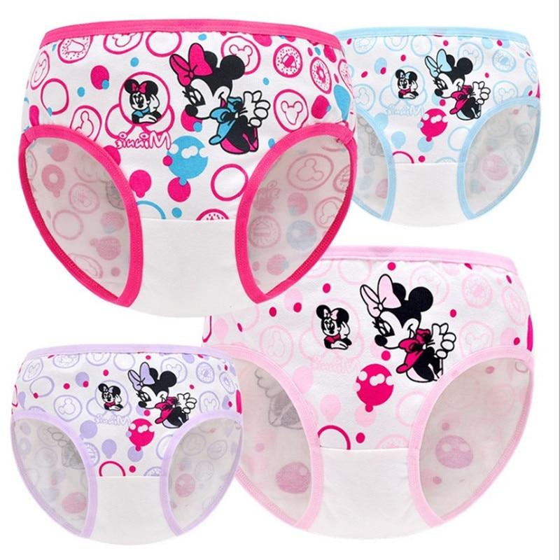 4 Pcs/lot Girls Cartoon Underwear Girls' Cotton Panties Child Underwear Girl Children трусики для девочек трусы для девочек