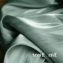 Imitation Silk Satin Fabric Cyan DIY Background Kungfu Suit HANFU Cheongsam Skirt Evening Dress Designer Fabric 50*140cm