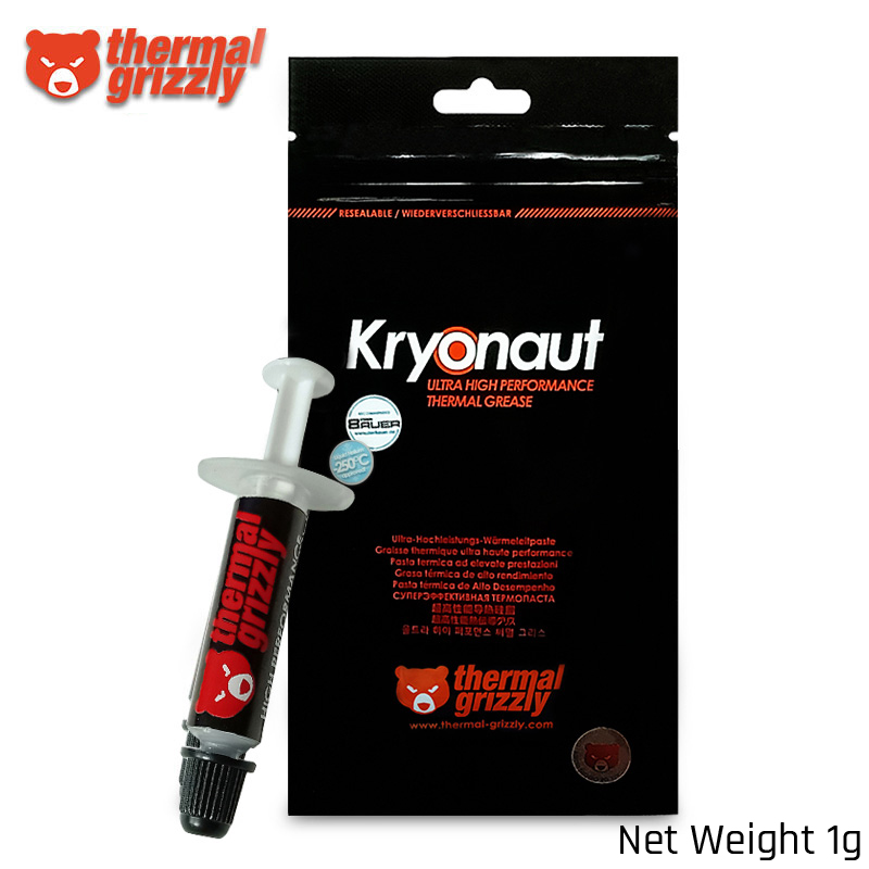 Thermal Grizzly Kryonaut Hydronaut 12.5W/mK Thermal Grease Ultra High Performance For Graphics Card Cpu GPU Grease 1g/5.5g