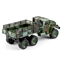 LED Lights Four Channel Gift Camouflage RC Car Truck Kids Toy Model Shockproof Children Remote Control Off-road Vehicle(China)