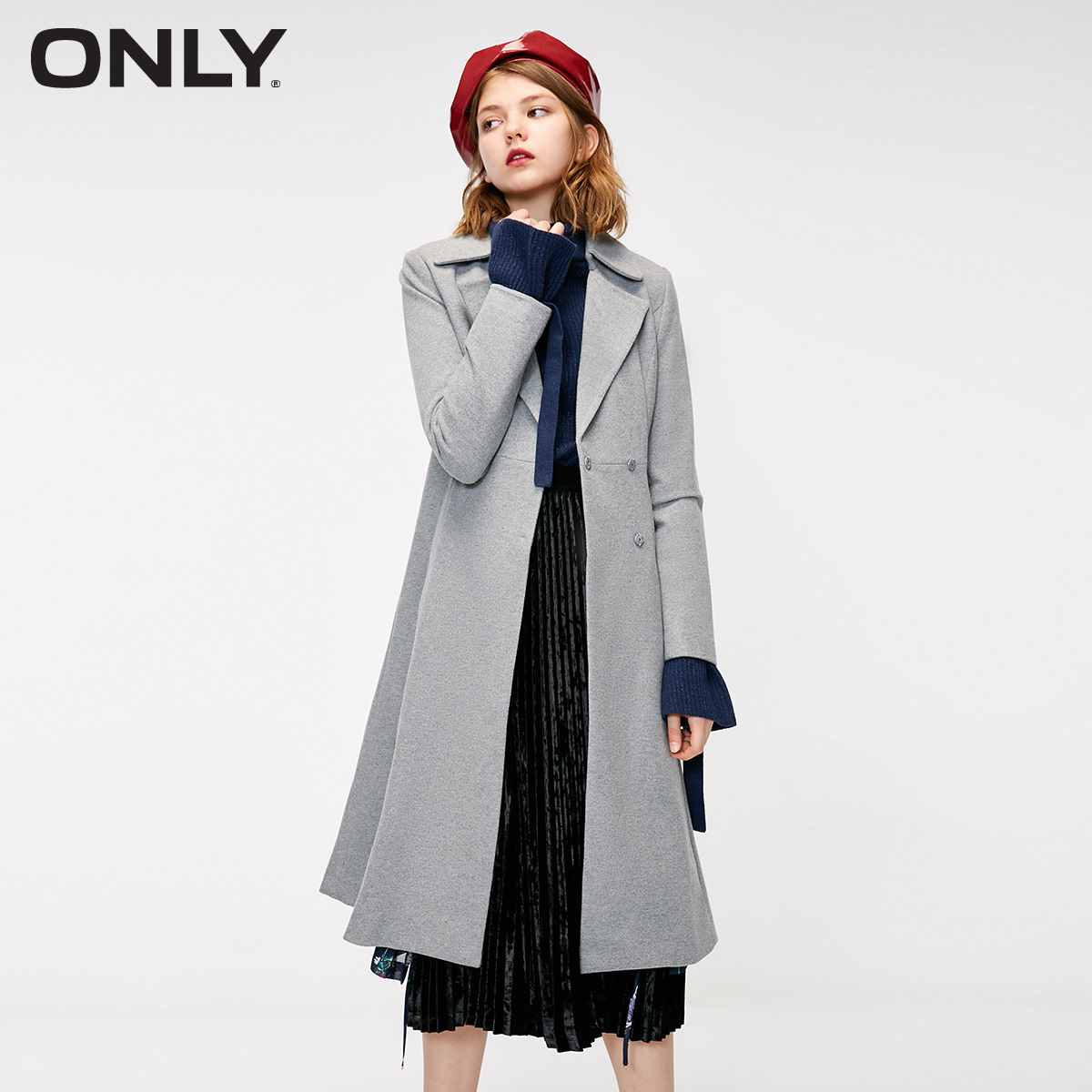 ONLY Women's Autumn New Tie Belt Long Trench Coat | 11831L501
