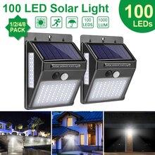 Goodland 100 светодиодный светильник на солнечной батарее, наружный солнечный светильник, PIR датчик движения, солнечный светильник на солнечной батарее, настенный уличный светильник для украшения сада