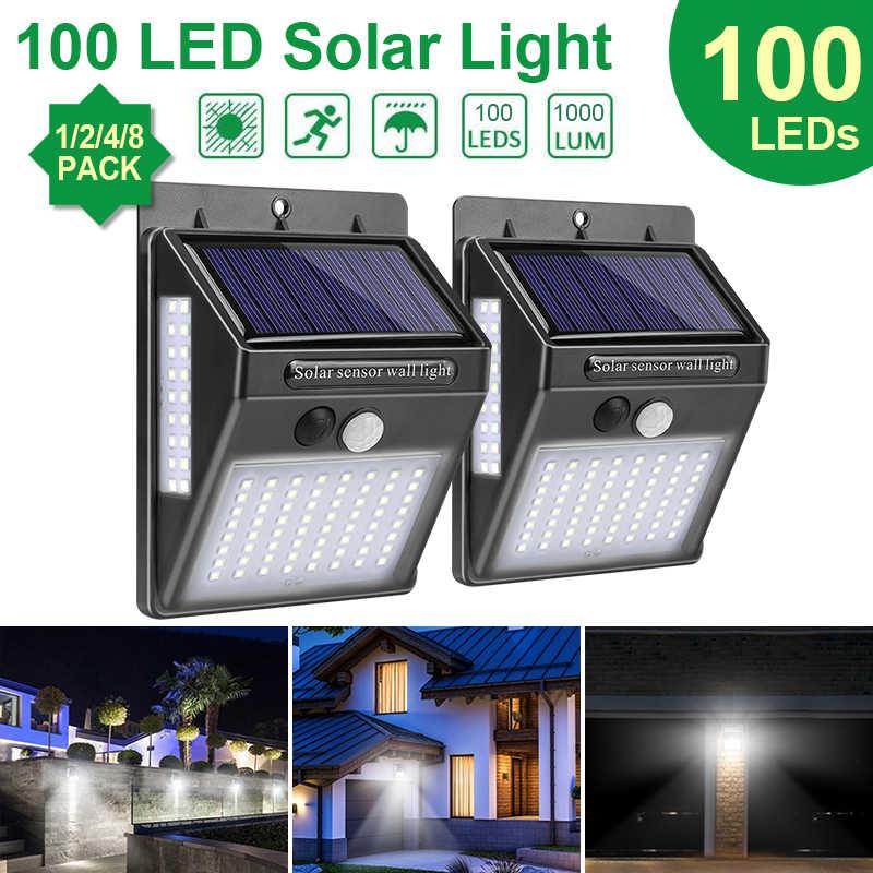 Image result for 100 LED Solar Light Outdoor Solar Lamp PIR Motion Sensor Wall Light Waterproof Solar Powered Sunlight for Garden Decoration