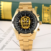 Luxury Automatic Mechanical Watch for Men Male Business Style Arabic Numerals Gold Automatic self wind watches
