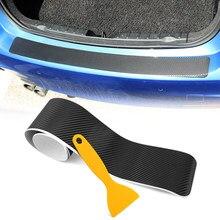 Pegatina de protección para parachoques trasero de coche, película de fibra de carbono para kia cerato Stinger rio ceed Sorento Cerato Forte optima soul k3 k5