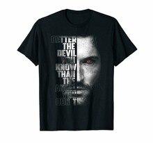 Melhor o diabo você sabe lucifer preto camiseta para fãs de ficção animal S-6Xl novo unisex engraçado topos camiseta