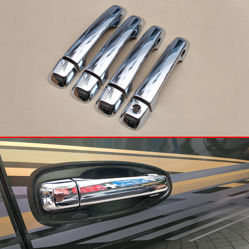 Chrome Molding Smart Door Handle Cover Trim Fit For Toyota <font><b>Land</b></font> <font><b>Cruiser</b></font> <font><b>LC200</b></font> 2016 <font><b>2017</b></font> Exterior Accessories image