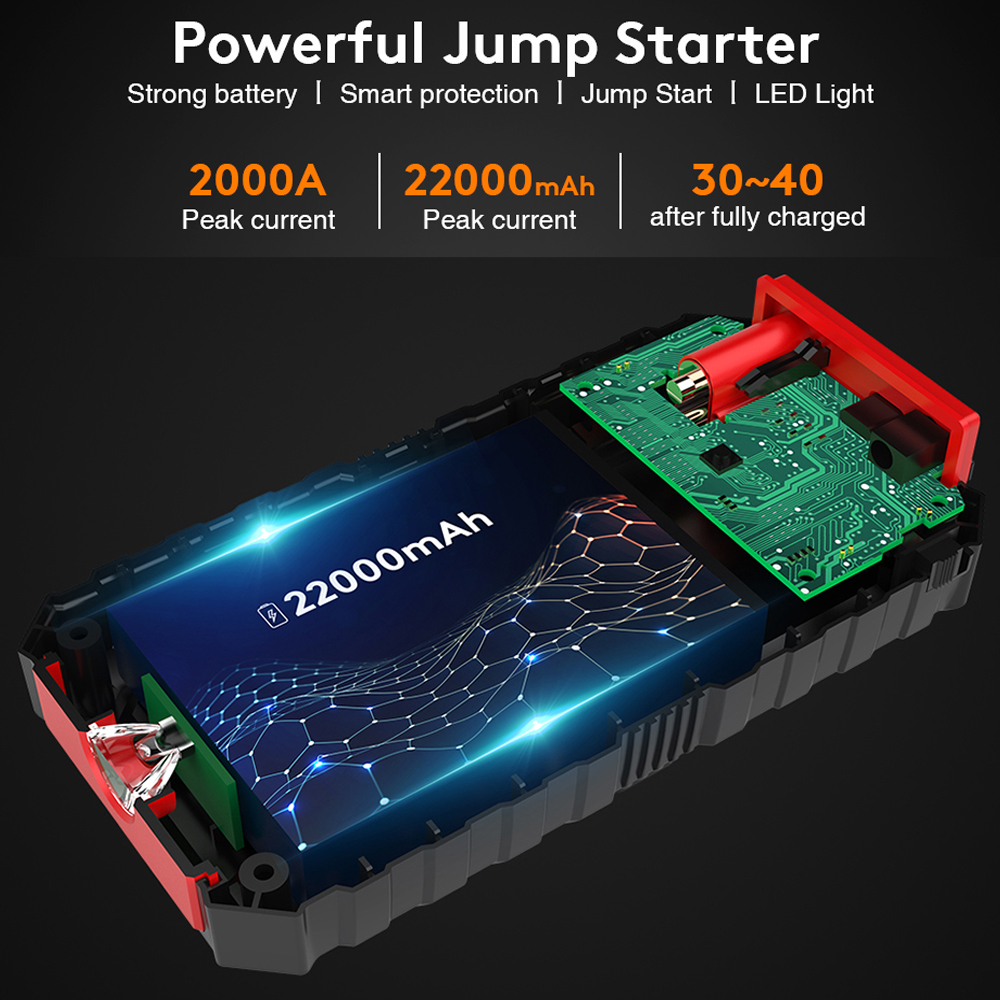 cheapest UTRAI 22000mAh Car Jump Starter Portable Emergency Charger Jstar One Power Bank Car Booster Starting Device Waterproof