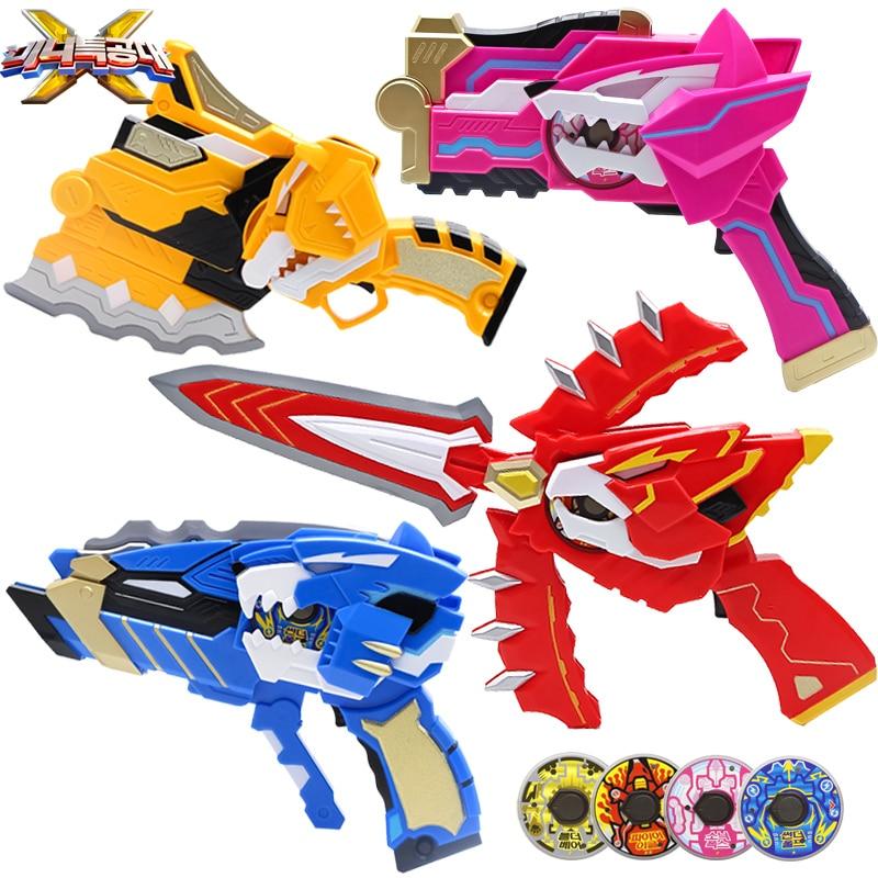 Miniforce Mini Force X Ranger Weapon Bolt Blue Transweapon BoltGun Bolt-Sword Toy Set Deformation Toy For Boy Suit Birthday Gift